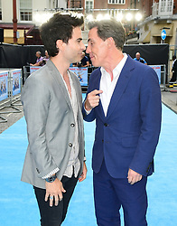 Kelly Jones (left) and Rob Brydon attending the Swimming with Men premiere held at Curzon Mayfair, London.