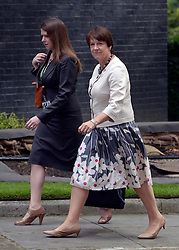© Licensed to London News Pictures. 10/07/2012. Westminster, UK. Secretary of State for Environment, Food and Rural Affairs CAROLINE SPELMAN. Politicians in Downing Street today 10th July 2012. Photo credit : Stephen Simpson/LNP