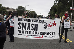 August 19, 2017 - Boston, Mssachusetts, U.S. - Thousands of Counter Protesters gathered around Reggie Lewis Center to get ready for antifascist protest march to Boston Common in Boston, Mssachusetts. (Credit Image: © Go Nakamura via ZUMA Wire)