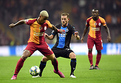 November 26, 2019, Istanbul, France: Radamel Falcao forward of Galatasaray AS, Mats Rits midfielder of Club Brugge during the UEFA Champions League Group stage - Group A match between Galatasaray and  Club Brugge at the Ali Sami Yen Spor Kompleksi on November 26, 2019 in Istanbul, Turkey , 26/11/2019 ( Photo by q#1q / Photonews (Credit Image: © Panoramic via ZUMA Press)