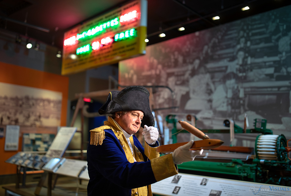 Ed Williams portrays General Nathanael Greene as he explores the classic tourist spots of modern-day Greensboro.<br /> <br /> <br /> Photographed, Wednesday, April 18, 2018, in Greensboro, N.C. JERRY WOLFORD and SCOTT MUTHERSBAUGH / Perfecta Visuals