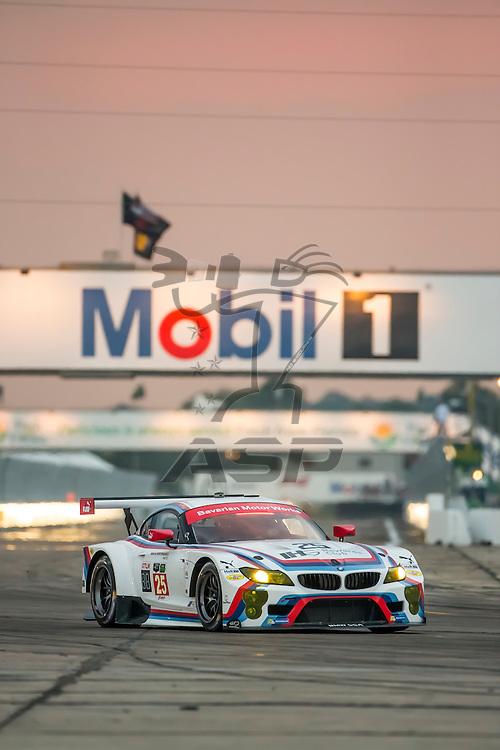 Sebring, FL - Mar 19, 2015:  The BMW Team RLL races through the turns at 12 Hours of Sebring at Sebring Raceway in Sebring, FL.
