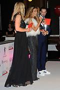 Uitreiking Grazia Red Carpet Awards in the Grand, Amsterdam.<br /> <br /> Op de foto:  Dani Bles krijgt de Red Carpet Style Goddess Award uit handen van  Valerio Zeno en Hilmar Mulder