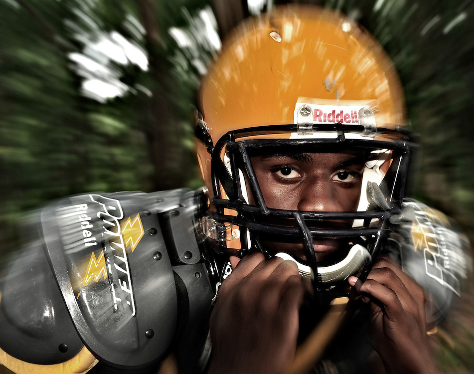Athens Christian's Anthony Cosby poses for a portrait at the school on Friday, Aug. 6, 2010 in Athens, Ga. .