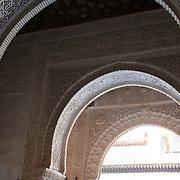 Nazaries Palaces of the Alhambra in Granada. Granada, Spain.
