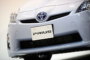 The third generation Prius hybrid car from Toyota Motor Corp. is pictured during an unveiling of the vehicle at the automaker's showroom  was in Tokyo, Japan on 18 May 2009.
