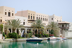 Luxury canal side villas at the Floating City in new residential property development at Amwaj Island in Kingdom of Bahrain