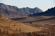 Mongolia. landscape  in Terelg valley