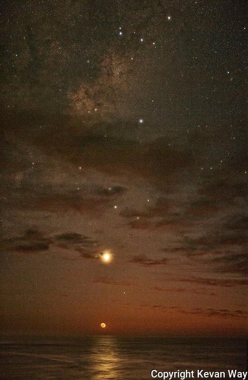 moonrise at dawn