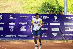 June 23, 2018 - L'Aquila, Italy - Thiago Monteiro during match between Thiago Monteiro (BRA) and Paolo Lorenzi (ITA) during Men Semi-Final match at the Internazionali di Tennis Città dell'Aquila (ATP Challenger L'Aquila) in L'Aquila, Italy, on June 23, 2018. (Credit Image: © Manuel Romano/NurPhoto via ZUMA Press)