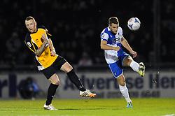 Bristol Rovers' Lee Brown clears the ball under pressure  - Photo mandatory by-line: Dougie Allward/JMP - Mobile: 07966 386802 - 19/12/2014 - SPORT - football - Bristol - Memorial Stadium - Bristol Rovers v Gateshead  - Vanarama Conference