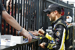 June 1, 2018 - Long Pond, Pennsylvania, United States of America - Matt Kenseth (6) signs autographs for fans before qualifying for the Pocono 400 at Pocono Raceway in Long Pond, Pennsylvania. (Credit Image: © Chris Owens Asp Inc/ASP via ZUMA Wire)