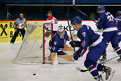20.04.2016, Dom Sportova, Zagreb, CRO, IIHF WM, England vs Litauen, Division I, Gruppe B, im Bild BOWNS Ben. // during the 2016 IIHF Ice Hockey World Championship, Division I, Group B, match between Great Britain and Lithuania at the Dom Sportova in Zagreb, Croatia on 2016/04/20. EXPA Pictures © 2016, PhotoCredit: EXPA/ Pixsell/ Dalibor Urukalovic<br /> <br /> *****ATTENTION - for AUT, SLO, SUI, SWE, ITA, FRA only*****