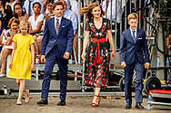 21-7-2018 Prince Gabriel, Princess Elisabeth and Princess Eleonore Belgian National Day celebrations, Brussels, Belgium - 21 Jul 2018 COPYRIGHT ROBIN UTRECHT