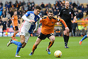 Blackburn Rovers midfielder Ben Marshall takes on Wolverhampton Wanderers midfielder Jack Price 0-0 during the Sky Bet Championship match between Wolverhampton Wanderers and Blackburn Rovers at Molineux, Wolverhampton, England on 9 April 2016. Photo by Alan Franklin.