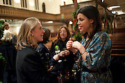 EMILY GOODALL; KIRSTIE ALLSOPP, Reception after Christmas Carol Service in aid of the Haven, Breast Cancer Support Centres. St. Paul's, Knightsbridge. London. 9 December 2010.  -DO NOT ARCHIVE-© Copyright Photograph by Dafydd Jones. 248 Clapham Rd. London SW9 0PZ. Tel 0207 820 0771. www.dafjones.com.