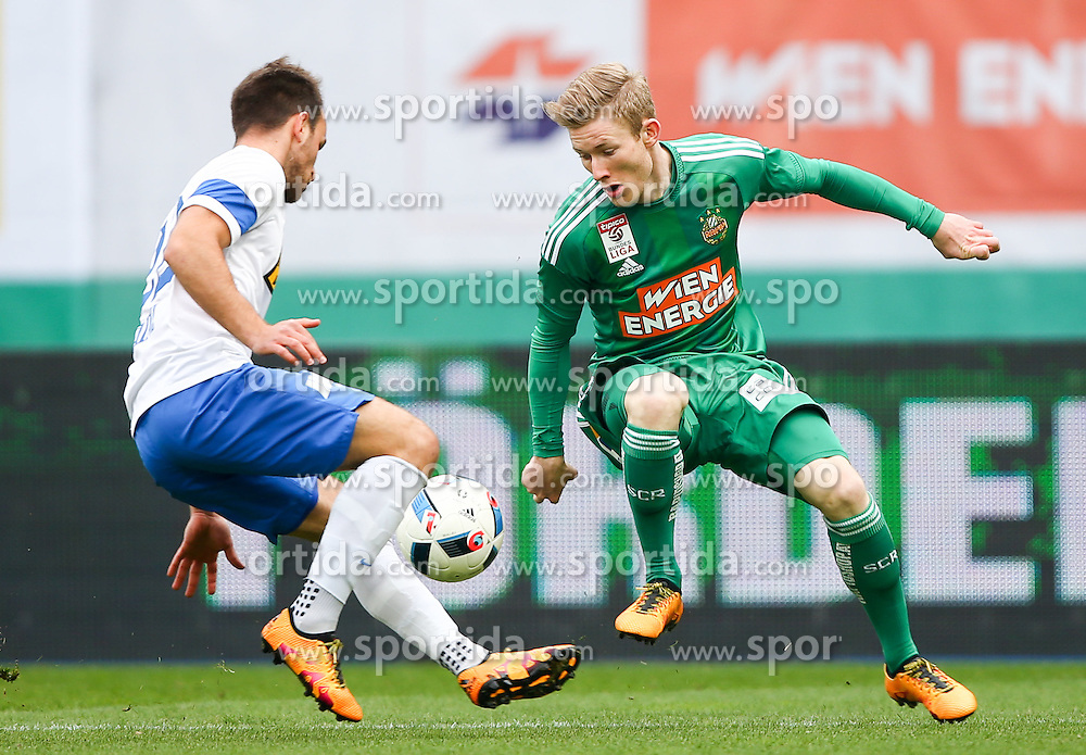 28.02.2016, Ernst Happel Stadion, Wien, AUT, 1. FBL, SK Rapid Wien vs SV Groedig, 24. Runde, im Bild Tobias Kainz (SV Groedig) und Florian Kainz (SK Rapid Wien) // during a Austrian Football Bundesliga Match, 24th Round, between SK Rapid Vienna and SV Groedig at the Ernst Happel Stadion, Vienna, Austria on 2016/02/28. EXPA Pictures © 2016, PhotoCredit: EXPA/ Thomas Haumer