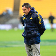 Mark Hammett before the super rugby union  game between Hurricanes  and Highlanders, played at Westpac Stadium, Wellington, New Zealand on 24 March 2018.  Hurricanes won 29-12.