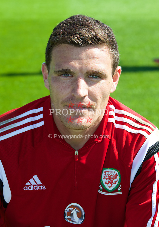 CARDIFF, WALES - Tuesday, September 2, 2014: Wales' goalkeeper Kyle Letheren training at the Vale of Glamorgan ahead of the opening UEFA Euro 2016 qualifying match against Andorra. (Pic by David Rawcliffe/Propaganda)
