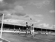 28/03/1959 <br /> 03/28/1959<br /> 28 March 1959 <br /> Soccer: F.A.I. Cup Semi-final St Patrick's Athletic v Cork Hibernians at Tolka Park, Dublin.