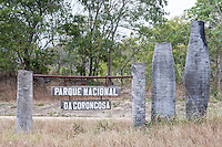 Entrance signage to Gorongosa National Park, Gorongosa National Park, Inhambane Province, Mozambique