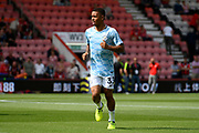 Gabriel Jesus (33) of Manchester City warming up before the Premier League match between Bournemouth and Manchester City at the Vitality Stadium, Bournemouth, England on 26 August 2017. Photo by Graham Hunt.