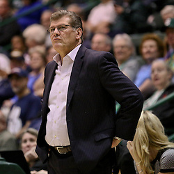 Feb 3, 2016; New Orleans, LA, USA; Connecticut Huskies head coach Geno Auriemma during the second half of a game against the Tulane Green Wave at the Devlin Fieldhouse. Connecticut defeated Tulane 96-38. Mandatory Credit: Derick E. Hingle-USA TODAY Sports