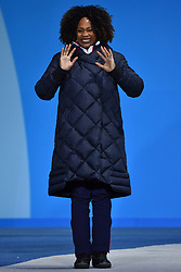 Les Coulisses, Behind the scenes, Laura Flessel, Podium at the PyeongChang2018 Winter Paralympic Games, Korea