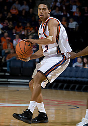 Virginia Cavaliers G Mustapha Farrakhan (2)..The Virginia Cavaliers men's basketball team defeated the Carson-Newman Eagles 124-65 in an exhibition basketball game at the John Paul Jones Arena in Charlottesville, VA on November 4, 2007.