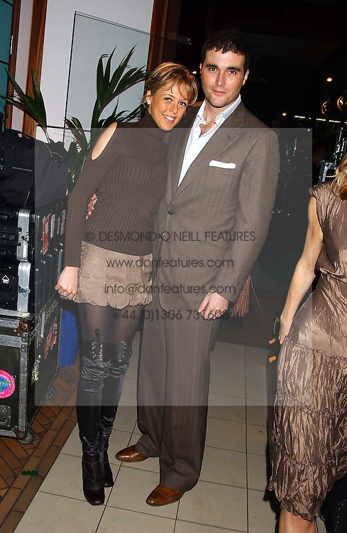 LADY ALEXANDRA SPENCER-CHURCHILL and DAVID PEACOCK at a party for the relaunch of Pizza on The Park, 11 Knightsbridge, London on 20th October 2005.<br />