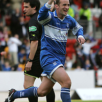 St Johnstone v Partick Thistle....04.11.06<br />Paul Sheerin celebrates his goal<br /><br />Picture by Graeme Hart.<br />Copyright Perthshire Picture Agency<br />Tel: 01738 623350  Mobile: 07990 594431