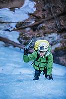 Ice Climbing in Virginia.  Blue ridge Mountain Ice climbing.