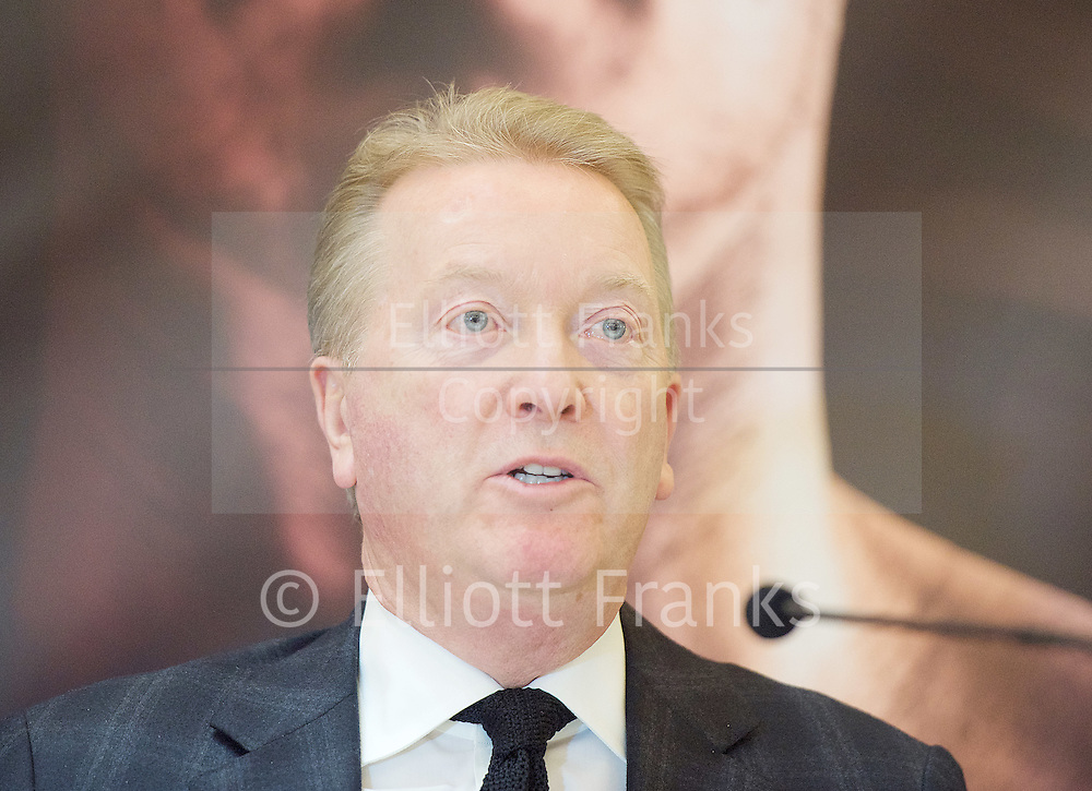Floyd Mayweather Jr & Frank Warren press conference at The Savoy Hotel, London, Great Britain <br /> 7th March 2017 <br /> <br /> Franks Waren <br /> <br /> Photograph by Elliott Franks <br /> Image licensed to Elliott Franks Photography Services