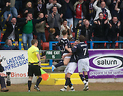 Leigh Griffiths celebrates his goal  - Stirling Albion v Dundee, IRN BRU Scottish League 1st Division, Forthbank Stadium, Stirling<br /> <br />  - &copy; David Young<br /> ---<br /> email: david@davidyoungphoto.co.uk<br /> http://www.davidyoungphoto.co.uk