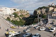Algeria. Constantine. El Kantara bridge on the Rhumel river , old city    / Algerie, Constantine.  Pont El Kantara sur le Rhumel , la vielle ville  sur le rocher,     05