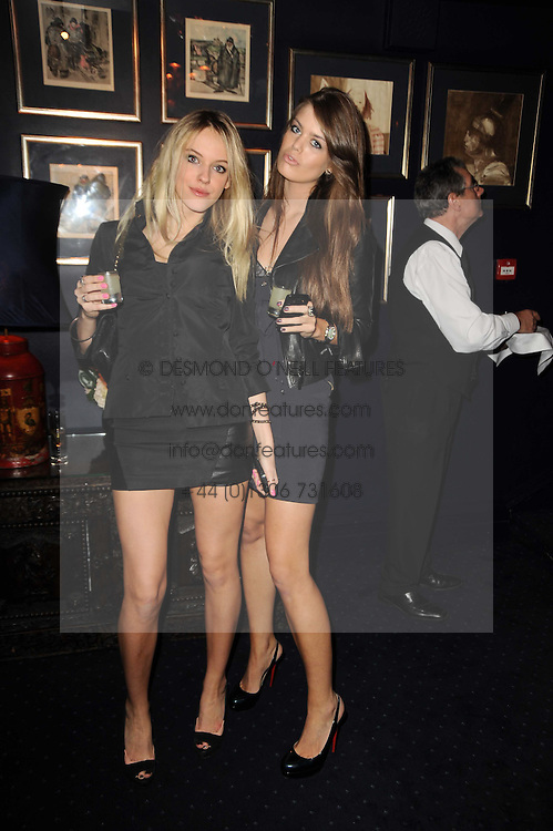 CONNIE GREER and Francesca Boscato at the Tatler Little Black Book Party held at Tramp, 40 Jermyn Street, London on 3rd November 2010.