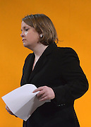 © Licensed to London News Pictures. 10/03/2013. Brighton, UK.  Prominent party activist Jo Shaw resigned from the party at the rostrum at the Liberal Democrat Spring Conference in Brighton today 10th March 2013. Photo credit : Stephen Simpson/LNP