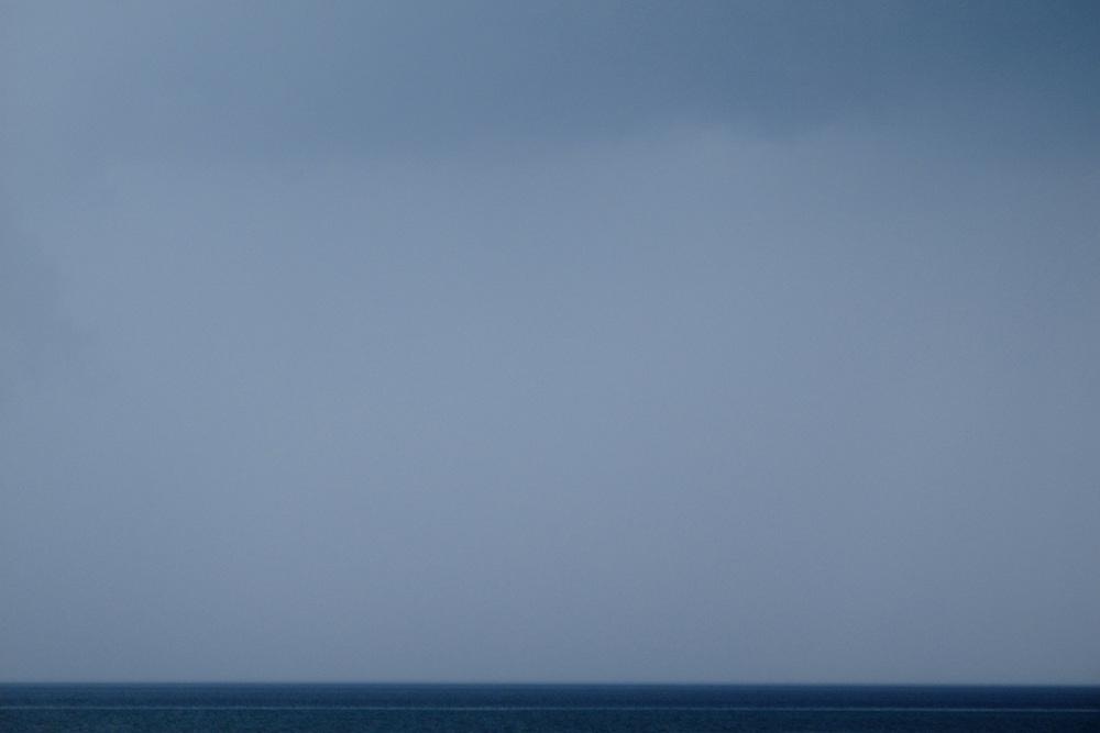 Storm clouds gather over Ohrid Lake. Lagadin region. Lake Ohrid (693m).<br /> Galicica National Park, Macedonia, June 2009<br /> Mission: Macedonia, Lake Macro Prespa /  Lake Ohrid, Transnational Park<br /> David Maitland / Wild Wonders of Europe