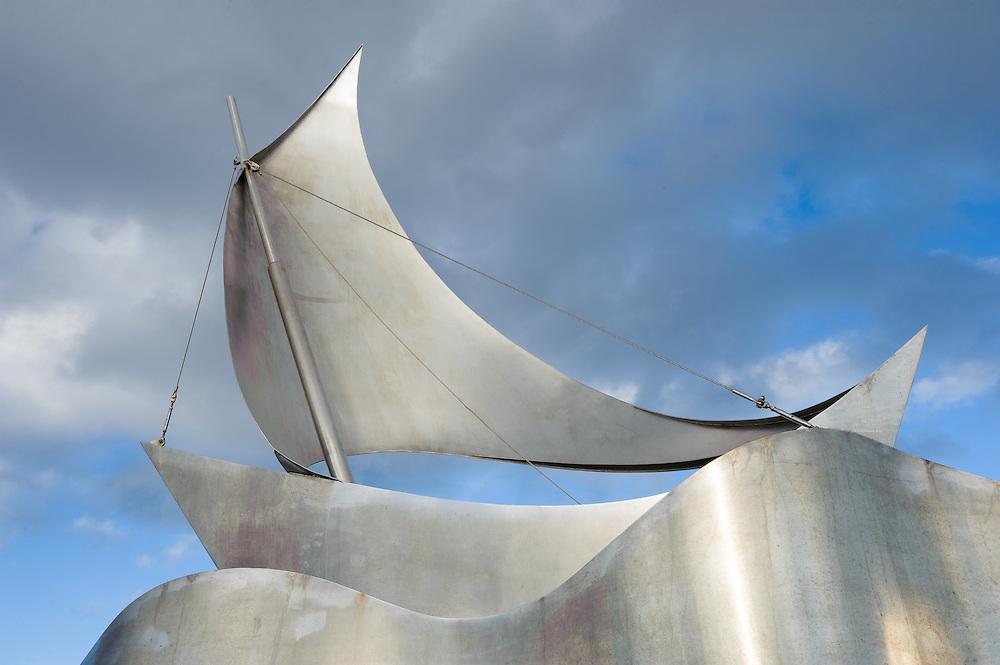 Sail boat sculpture, Stykkisholmur, Iceland