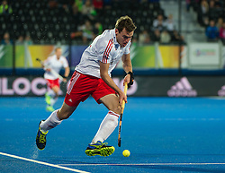 England's Alastair Brogdon. England v Germany - Semi-Final Unibet EuroHockey Championships, Lee Valley Hockey & Tennis Centre, London, UK on 27 August 2015. Photo: Simon Parker