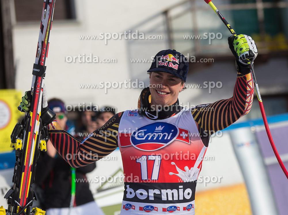 29.12.2013, Stelvio, Bormio, ITA, FIS Ski Weltcup, Bormio, Abfahrt, Herren, Siegerpraesentation, im Bild Erik Guay (CAN, 3. Platz) // 3rd place Erik Guay of Canada Celebrate on Podium after mens downhill of the Bormio FIS Ski Alpine World Cup at the Stelvio Course in Bormio, Italy on 2013/12/29. EXPA Pictures © 2013, PhotoCredit: EXPA/ Johann Groder