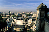 France. Paris. 4th district. elevated view. Saint Gervais Saint Protee church  in le Marais