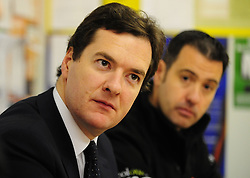 George Osborne Shadow Chancellor of the Exchequer meeting staff at a B&Q store in Bradford as part of his Get Britain Working tour, Friday  October 23, 2009. Photo By Andrew Parsons / i-Images.