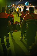 FAN IS TAKEN OUT AFTER FAINT DURING BON JOVI'S CONCERT, MAIN ATTRACTION OF THE FIRST NIGHT OF FESTIVAL.