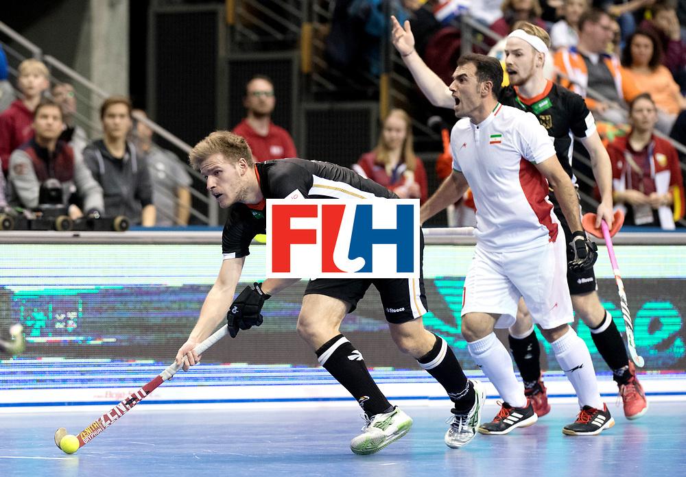 BERLIN - Indoor Hockey World Cup<br /> Semi-final 1: Germany - Iran<br /> foto: Ferdinand Weinke.<br /> WORLDSPORTPICS COPYRIGHT FRANK UIJLENBROEK