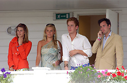 CHELSEY DAVY (in green) TOM INSKIP on the balcony of the Royal Box at the Cartier International polo at Guards Polo Club, Windsor Great Park, on 30th July 2006.<br /> <br /> NON EXCLUSIVE - WORLD RIGHTS