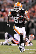Sept. 2, 2010; Cleveland, OH, USA; Cleveland Browns wide receiver Bobby Engram (88) during the fourth quarter against the Chicago Bears at Cleveland Browns Stadium. The Cleveland Browns beat the Chicago Bears 13-10. Mandatory Credit: Jason Miller-US PRESSWIRE