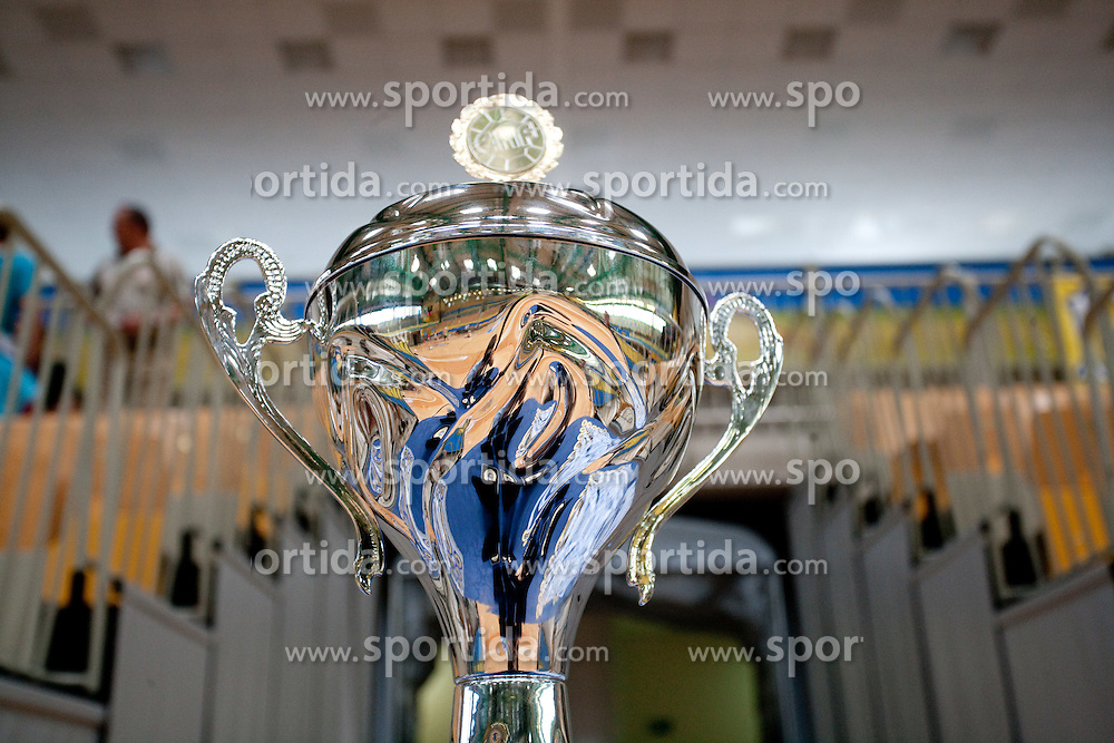 Trophy during handball match between RK Cimos Koper (SLO) and Benfica (POR) in return final match of EHF Challenge Cup, on May 22, 2011 in Arena Bonifika, Koper, Slovenia.  (Photo By Vid Ponikvar / Sportida.com)