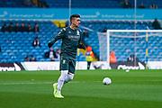 Leeds United midfielder Pablo Hernandez (19) warming up during the EFL Sky Bet Championship match between Leeds United and Queens Park Rangers at Elland Road, Leeds, England on 2 November 2019.