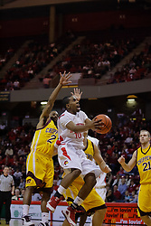 05 December 2009: Terry Johnson gets past the defense for a running lay up. The Chippewas of Central Michigan are defeated by the Redbirds of Illinois State 75-62 on Doug Collins Court inside Redbird Arena in Normal Illinois.